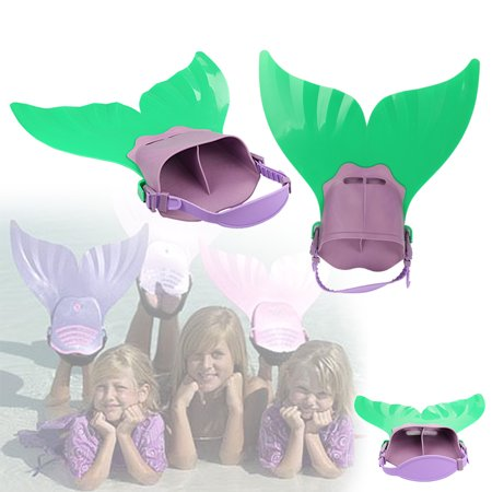 Mermaid Tail Fins For Children Kids Boys Girls Mono Flippers Adjustable Swimming Fin Diving Monofin Comfortable Swim Toy Pool Footwear  Coastacloud