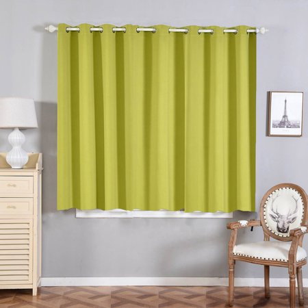 Efavormart 2 Panels Thermal Insulated Blackout Darkening Window Curtain With Chrome Grommet For Window Wall Decoration 52