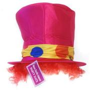 Tall Clown Costume Hat: Pink