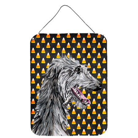 Scottish Deerhound Candy Corn Halloween Wall or Door Hanging Prints - Scottish Name For Halloween