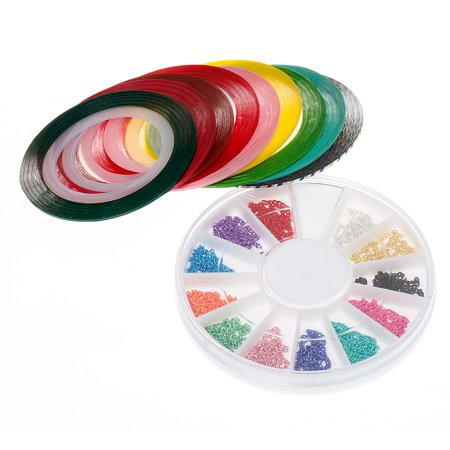 BMC Color Mix Neon Les chaînes d'ongles et Striping Ruban Vernis à ongles Art Accessory Set