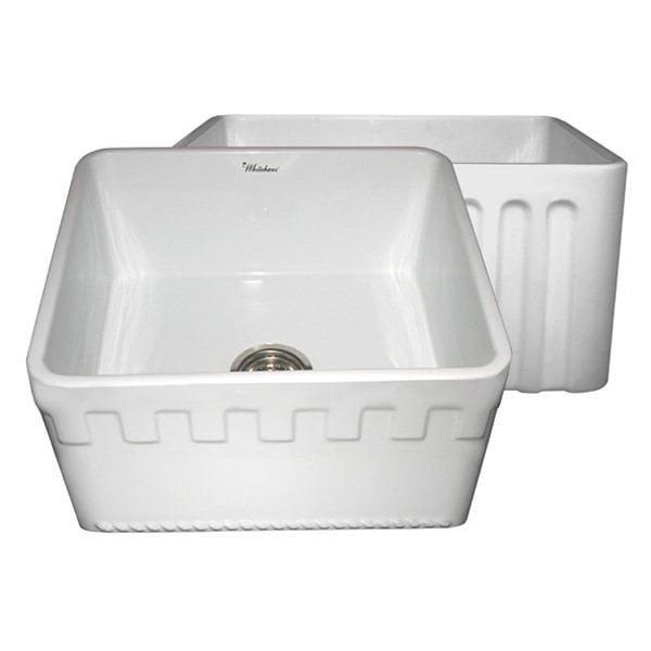 Reversible 20 in. Fireclay Farmhaus Kitchen Sink (White)