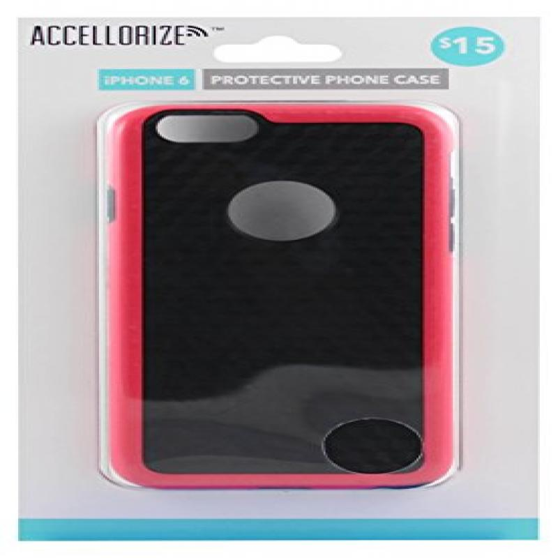 ACCELLORIZE 35004 BLACK PINK PROTECTIVE CASE FOR IPHONE 6