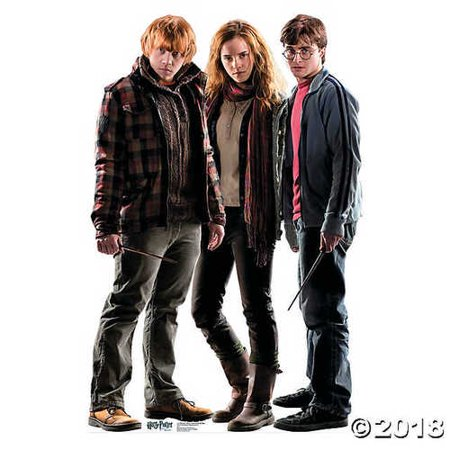 Advanced Graphics Harry, Hermione & Ron Life Size Cardboard Cutout Standup - Harry Potter and the Deathly