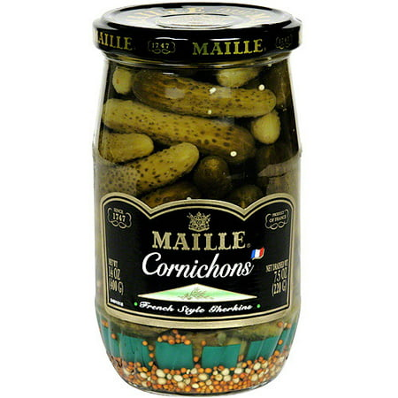 Maille Gherkins Pickles, 14 oz (Pack of