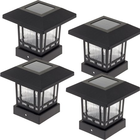 WESTINGHOUSE NEW Black Solar 4x4 Post Cap Lights for Wood Posts (4 Pack)