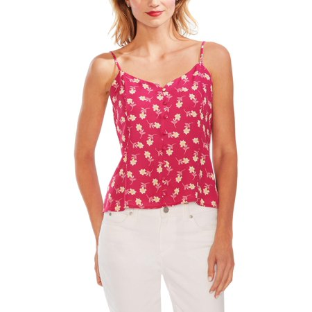 Vince Camuto Womens Lined Button Front Tank Top