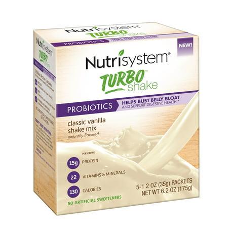 - Nutrisystem Turbo Vanilla Shake Mix, 1.2 Oz, 20 Ct