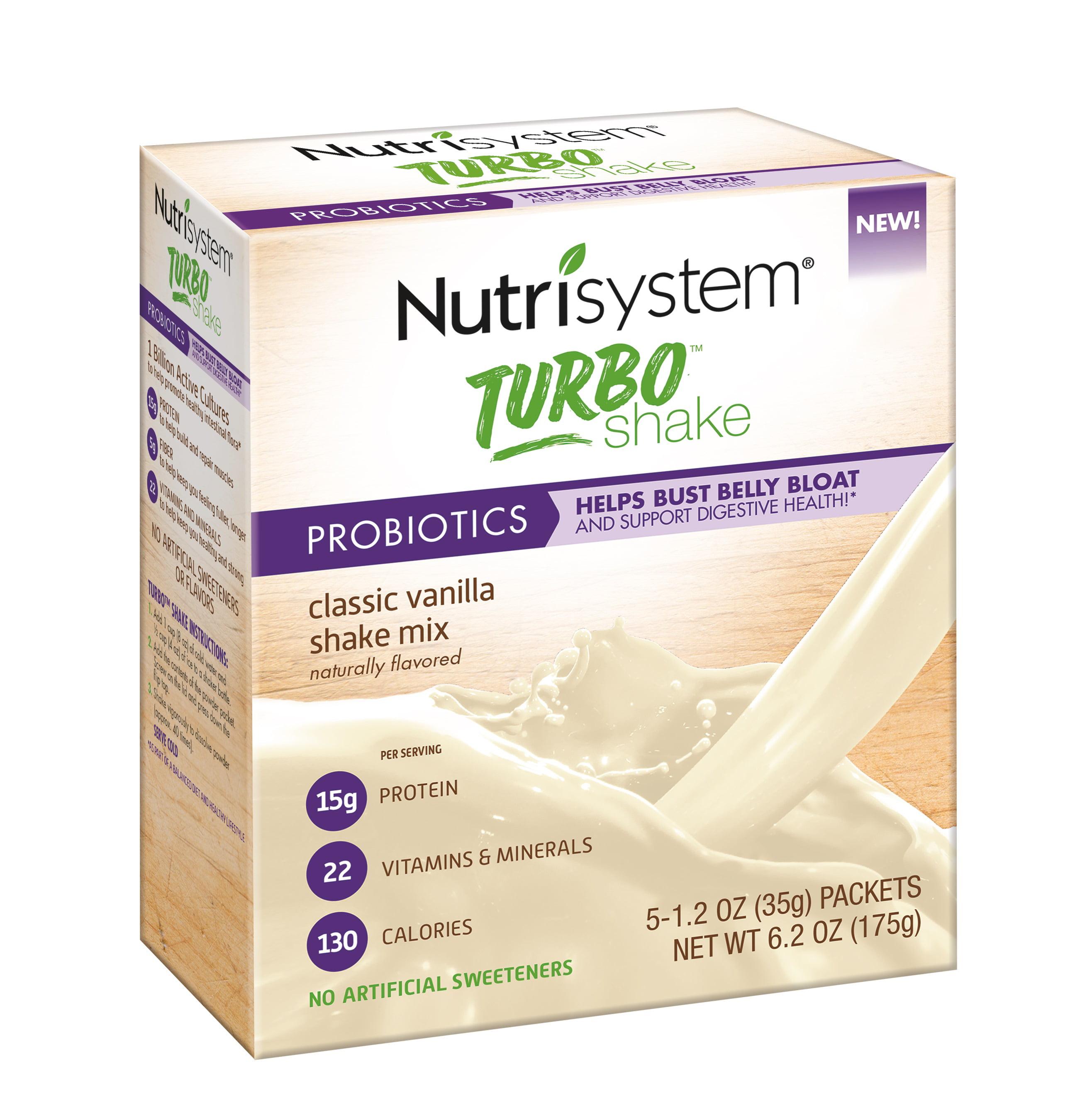 Nutrisystem Turbo Vanilla Shake Mix, 1.2 Oz, 20 Ct
