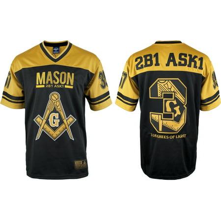 Big Boy Mason Divine S4 Mens Football Jersey [Black - 4XL] ()
