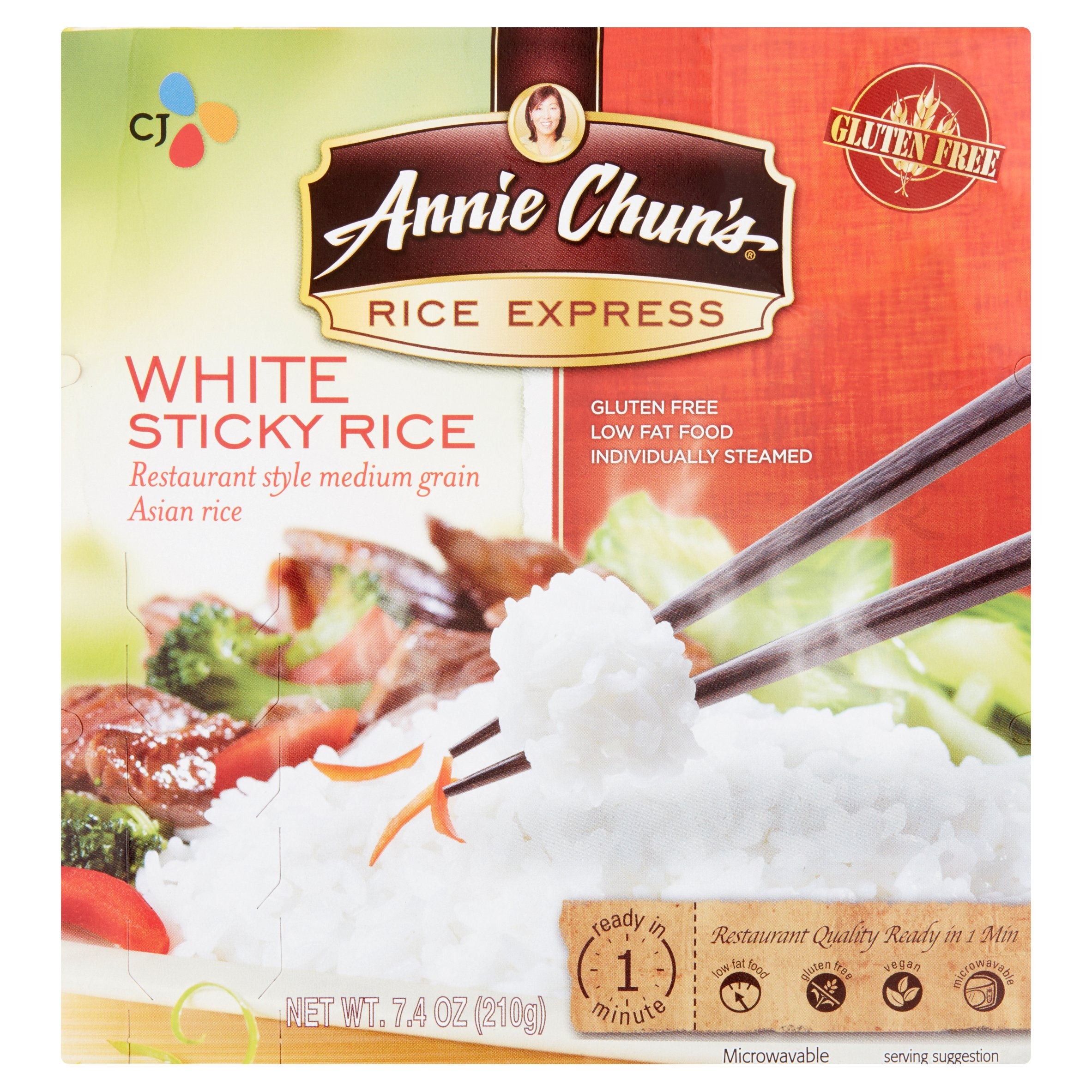 Annie Chun's Rice Express White Sticky Rice, 7.4 oz by CJ Foods, Inc.