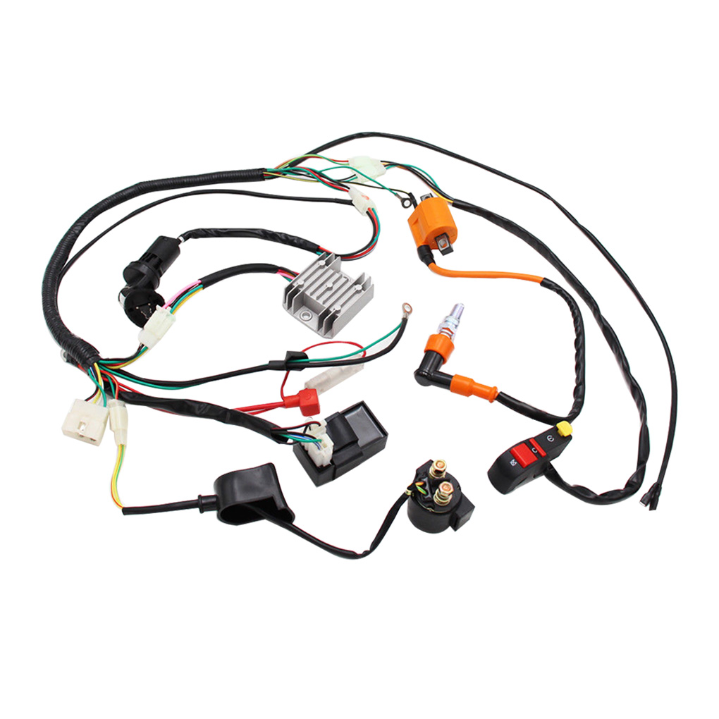 Replacement For Atv Quad 150 200 250 300cc High Quality Complete Electrics Wiring Harness Loom Cdi Coil Walmart Canada