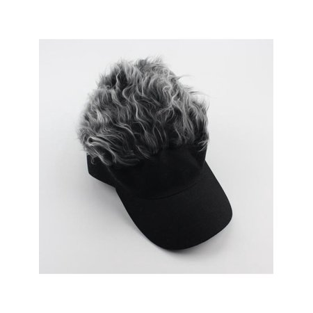 Funny Men Adjustable Flair Hair Visor Casquette Hat Golf Fashion Wig Cap -  Walmart.com 8e4637b918a