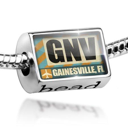 Bead Airportcode GNV Gainesville, FL Charm Fits All European Bracelets - Halloween Gainesville Fl