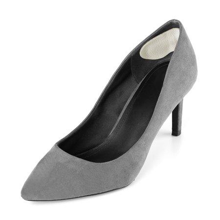 Leather Heel Cushion Heel Self-adhesive Shoe Insole Women Beige Cowhide 6 Pairs - image 3 de 5