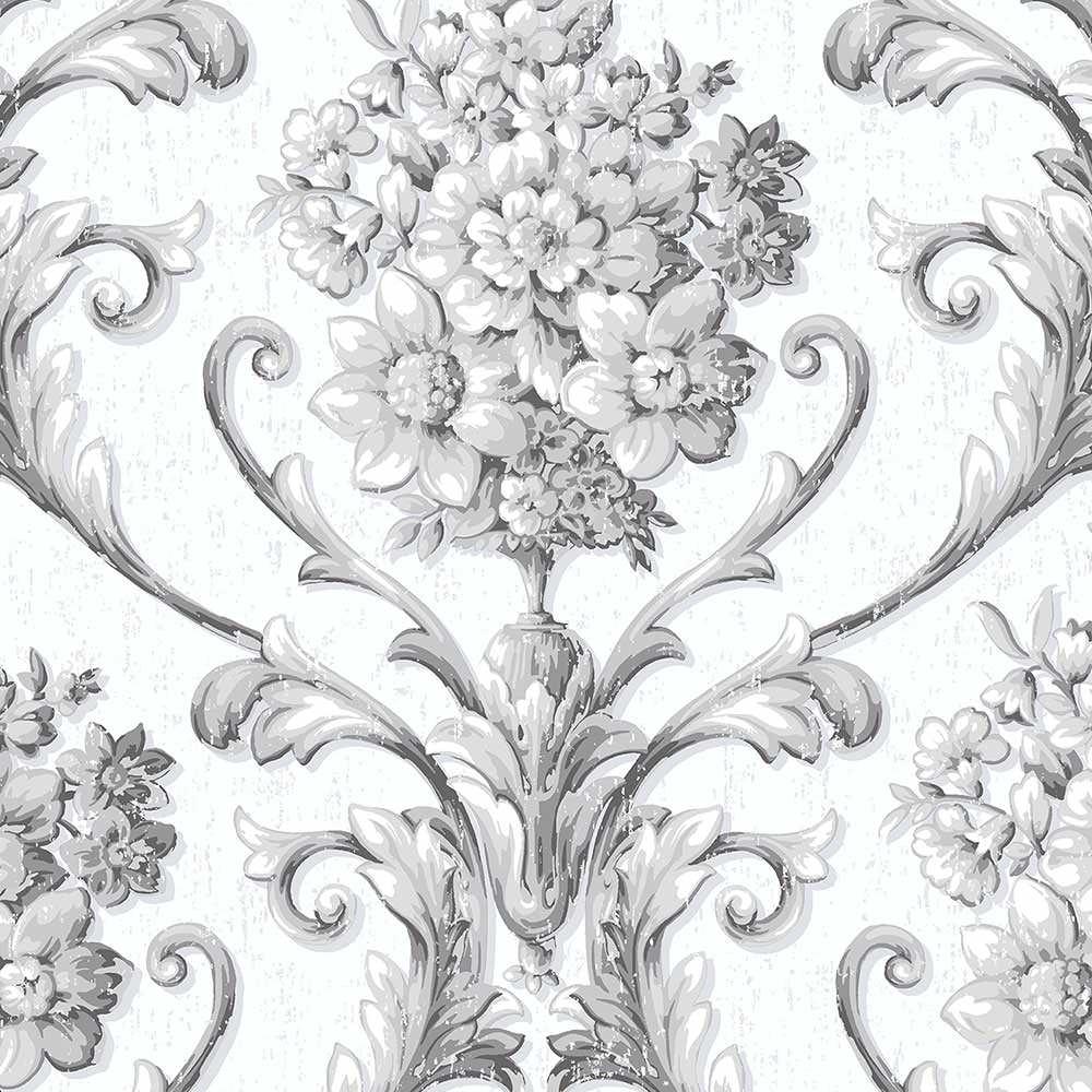 Floral Damask Wallpaper Walmart Com Walmart Com