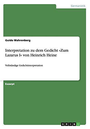 Heine gedichte interpretationen