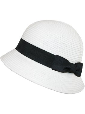 daa2fd0c89c Product Image Size one size Women s Paper Braided Summer Sun Cloche Hat