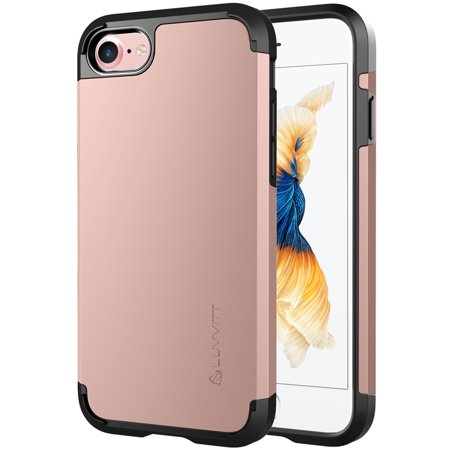 iPhone 8 Case, LUVVITT [Ultra Armor] Shock Absorbing Case Best Heavy Duty Dual Layer Tough Cover for Apple iPhone 8
