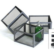 Square Office Basket - Set Of 3