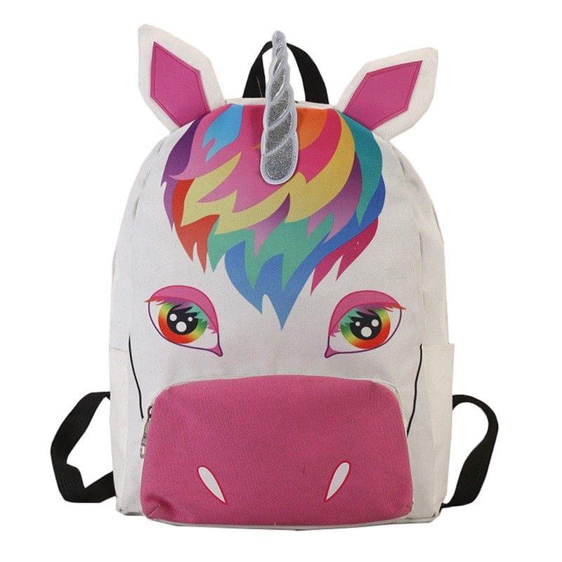 Kids Backpack Unicorn Rucksack Back To School Handbag Outdoor Bag Girls