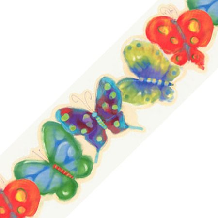 Jelly Bugs Border - York Wallcoverings 12440420 Jelly Butterfly Bugs Prepasted Wallpaper Border Roll