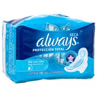 New 331029 Always 10Ct Proteccion Total Wwings (8-Pack) Feminine Hygiene Cheap Wholesale Discount Bulk Health And Beauty Feminine Hygiene X Others