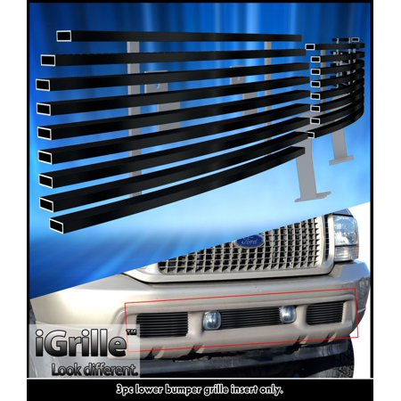 - 99-04 Ford Excursion/F250 F350 Super Duty Bumper Black Stainless Billet Grille
