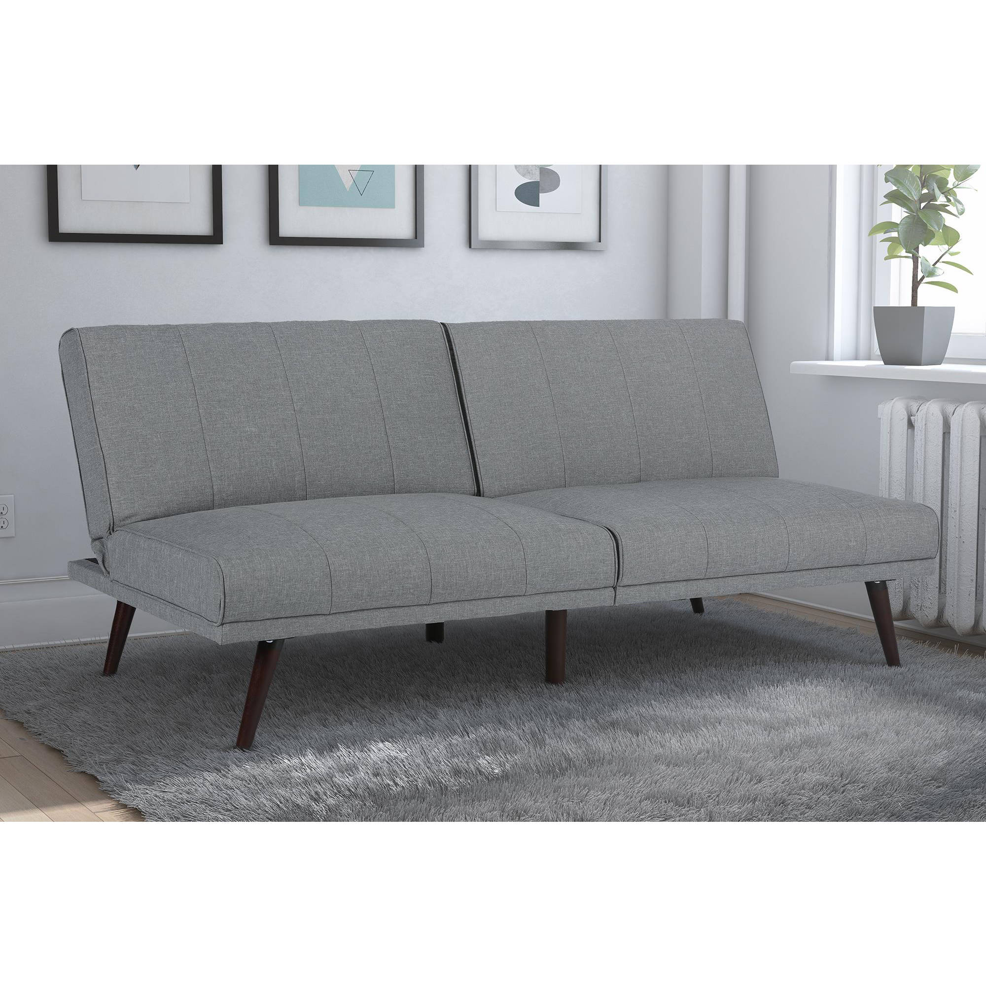 arm walmart futons dhp com aiden metal multiple sturdy colors futon ip frame