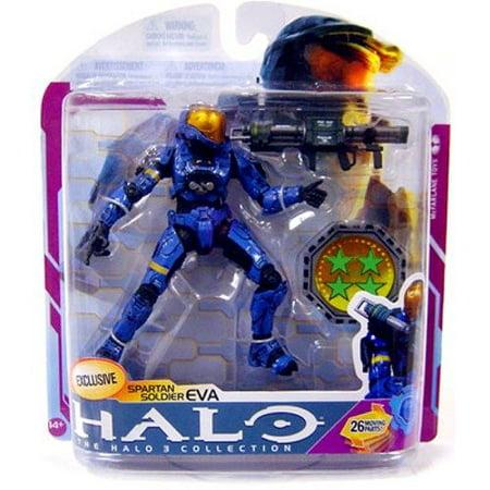 Halo 3 Toys Series 6 [MEDAL EDITION] Exclusive Action Figure BLUE Spartan Eva, By - Halo Blue Spartan