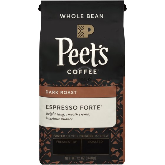Peet's Coffee® Espresso Forte Dark Roast Whole Bean Coffee 12 oz  Bag