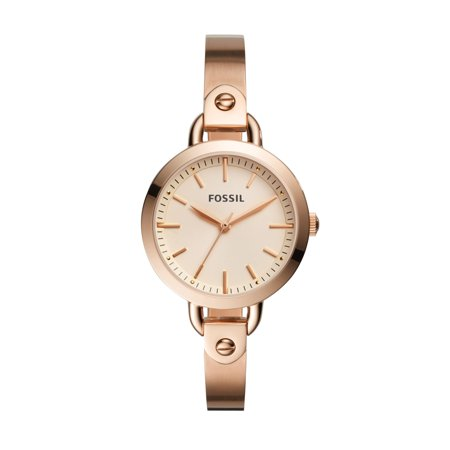 Fossil Women's Classic Minute Rose Gold Tone Stainless Steel Watch (Style: BQ3026)