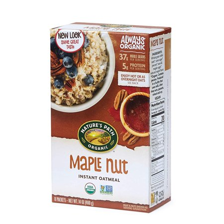 - Nature's Path Maple Nut Instant Oatmeal, Healthy, Organic, 8 Pouches per Box, 14 Ounces (Pack of 6), INCLUDES: 6 boxes of Nature's Path Apple.., By Natures Path