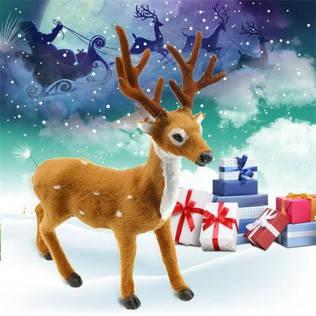 Lovely Simulation Reindeer Christmas Ornament Plush Deer Christmas Decorations - image 5 of 6