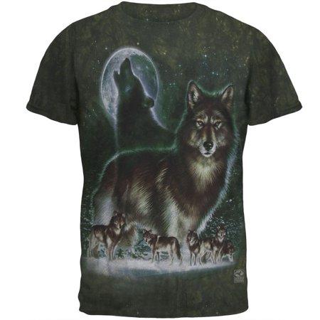 Wolf Tie Dye (Wolf Moon - Tie Dye T-Shirt)