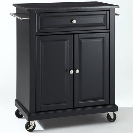 Crosley Furniture Solid Black Granite Top Portable Kitchen Cart ()