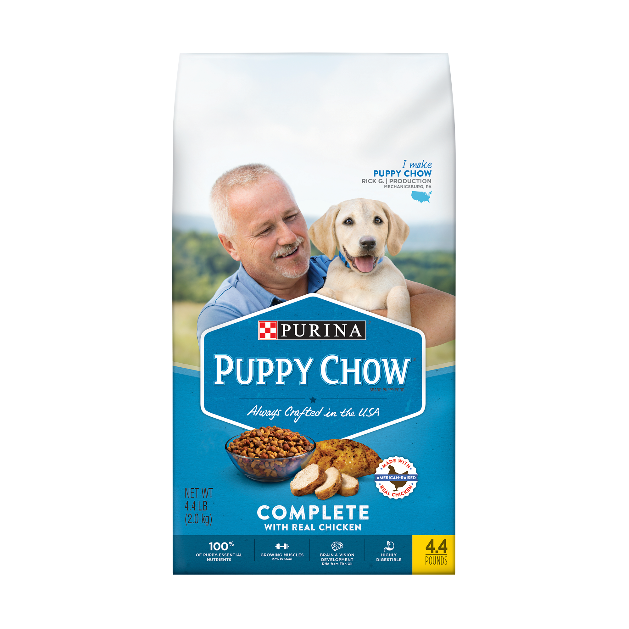 Purina Puppy Chow Complete With Real Chicken Dry Puppy Food - 4.4 lb. Bag