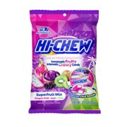 (Price/Case)Hi-Chew 15100 3.17oz Hi-Chew Superfruit Mix Peg Bag 6Ct Display Ready Master Case (Assorted Mix Of Dragon Fruit Acai Kiwi)