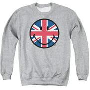 Smiley World Union Jack Face Mens Crewneck Sweatshirt