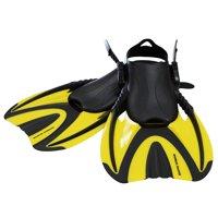 Snorkel Master Adult Yellow Swimming Snorkeling Fins, Medium