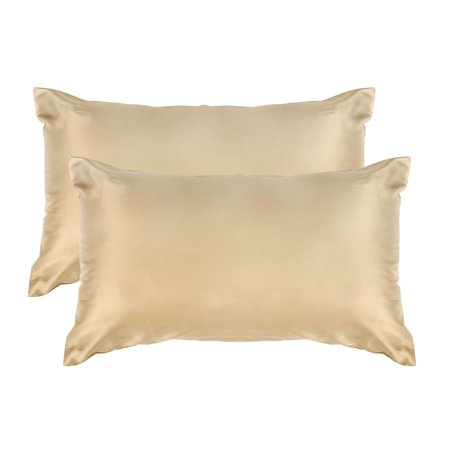 Luxury Satin Pillowcases Cover Envelope Closure No Zipper