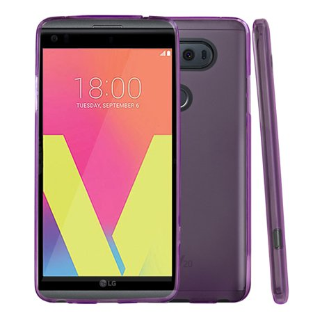 LG V20 TPU Case, REDshield [Purple] Slim & Flexible Anti-shock Crystal Silicone Protective TPU Gel Skin Case Cover