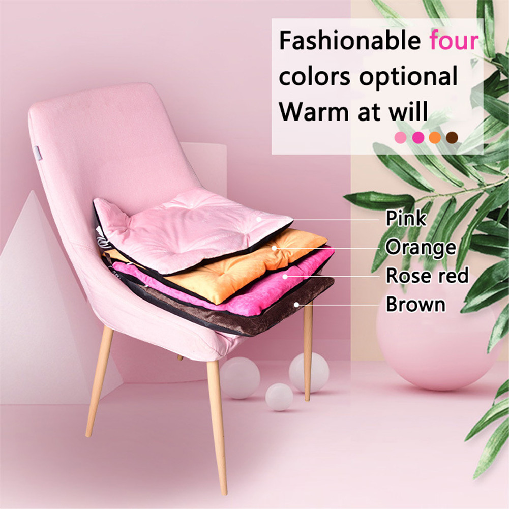 Details about  /Driving Electric Heated Cushion Warm Cold Weather USB Charging Office Chair Home