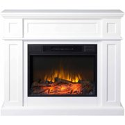 Flamelux 41 Wide Electric Fireplace Mantel White Image 3