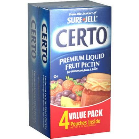 Certo Premium Liquid Fruit Pectin 4-Pouch Value Pack, 6 fl (Original Fruit Pectin)