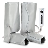LiveFine Air Compression Leg Massager Pump Wraps, Foot & Calf with Handheld Controller, 2 Modes & 3 Intensities Relieve Fatigue & Improve Blood Flow Circulation