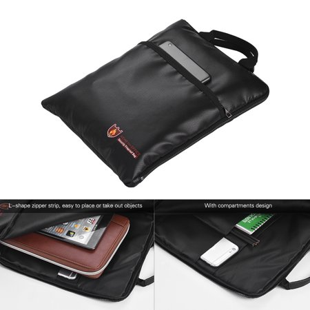 Fireproof Document Bag Water Resistant File Pouch Envelope Holder Silicone Coated Fiberglass Zipper Closure Safe Storage for Cash Money Passport Valuables - image 4 of 7