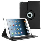 iPad 2 3 4 (9.7 inch), Case KIQ PU Leather Folio Swivel Rotating Protective Fitted Multi-View Tablet Cover For (OLD Release 2011~2012) Apple iPad 2nd, 3rd, 4th Gen (Black)