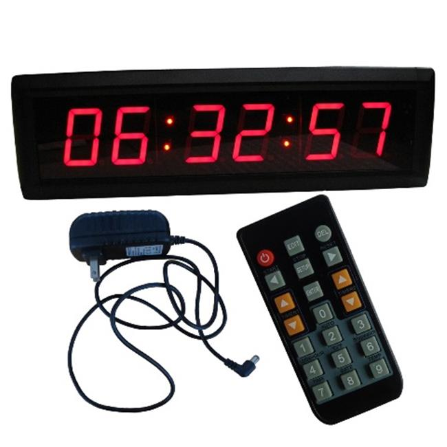 DLC IN6T1. 8R 1. 8 inch High Character LED Digital Wall Clock, Red