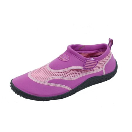 Brand New Women's Slip-On Water Shoes With Velcro Strap Size 10 Purple
